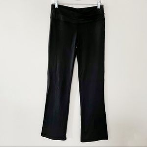 Lululemon luon flared leggings with origami pleat front